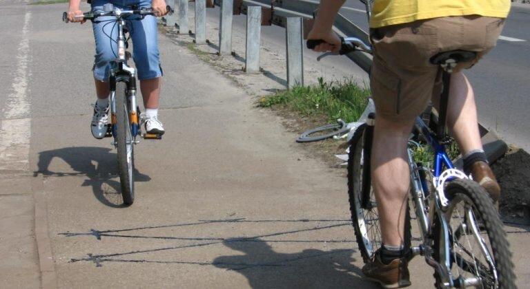 Zliczanie rowerzystów w Tychach