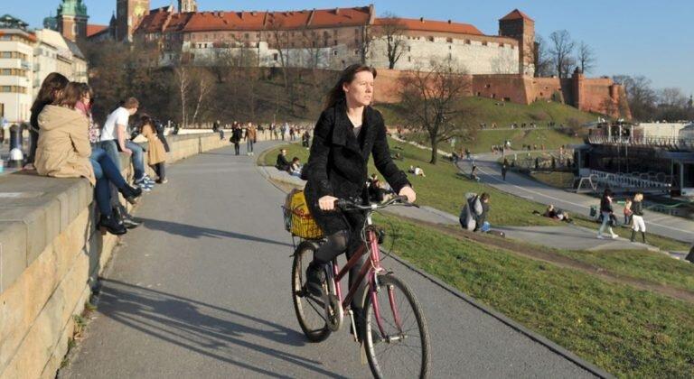 Liczniki rowerowe w Krakowie