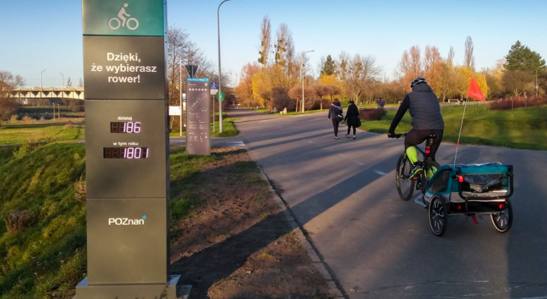 Licznik rowerowy w Poznaniu